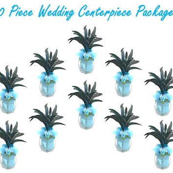 Wedding Table Centerpiece 10 Piece Package, Wedding Decor Silk Flowers and Wedding Reception Flowers, Wedding Decoration by Patique Floral
