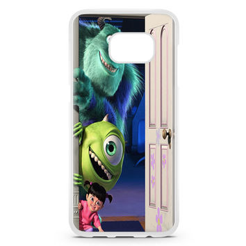 Sully Mike And Boo Open The Door Tardis Monsters Inc Samsung Galaxy S7 Edge Case