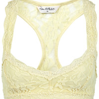 Lemon Lace Racer Back Bra Top - View All - New In - Miss Selfridge