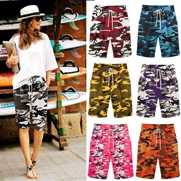 Spring and summer new loose 7 color camouflage shorts casual pants