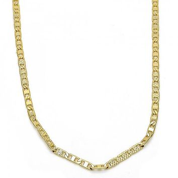 Gold Layered 04.213.0079.18 Basic Necklace, Mariner Design, Polished Finish, Golden Tone