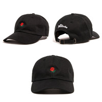 Black Flower Baseball Caps Adjustable Sports Snapback