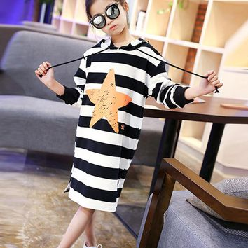 4-14T Fashion Striped Girl T Shirt Kids Clothes Autumn Long Sleeve Tops Tee Toddler Baby Girls T-Shirts Children Clothing Blusas