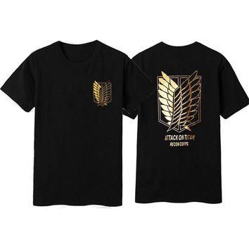 Cool Attack on Titan [STOCK]Amine  Cosplay T shirt no  cosplay costume t-shirt Summer top tshirt Unisex in stock AT_90_11