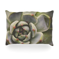 "Debbra Obertanec ""Desert Succulent"" Green Oblong Pillow"