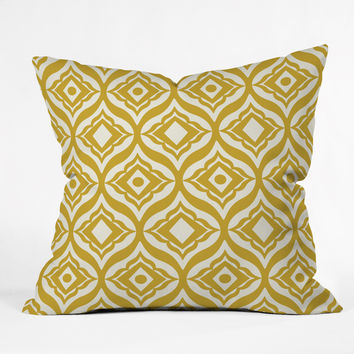 Heather Dutton Trevino Yellow Outdoor Throw Pillow