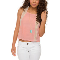 Marine Crochet Top - Pink