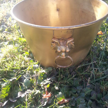 Vintage 1800s Brass Pot - Bucket - by E. Miller & Co. - H.W. Hayden's Pat.