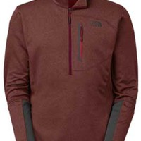 Gliks - The North Face Canyonlands Half Zip for Men in Sequoia Red Heather