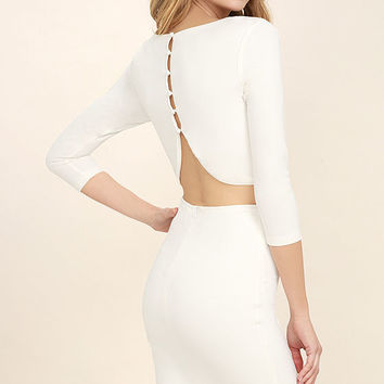 Shape of You White Bodycon Dress
