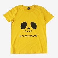 Panda Face Tee | Yellow