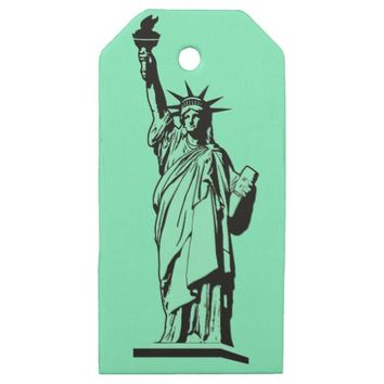 Statue of Liberty Wooden Gift Tags