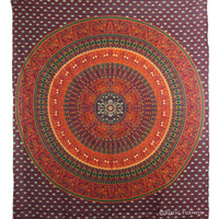 Psychedelic Indian Mandala Tapestry Throw Dorm Room Wall Hanging Bedspread
