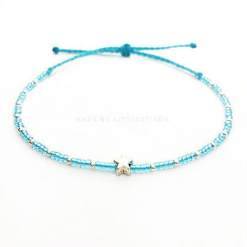 Star Friendship Bracelet - Best Friend Bracelet - Best Friend Gift - Beaded Bracelet - Seed Bead Bracelet - Turquoise Bracelet