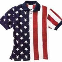 FlagClothes U.S.A. Made Patriotic Stars & StripesPolo Shirt (XX-Large)