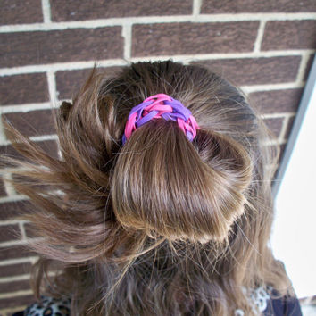 Bungle Band Hair Tie, Made From Rubber Bands - Multicolor Elastic Bands - Hair Accessories for Girls, Women, Nieces and Granddaughters