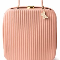 Edith & Ella - 60s Classy Suitcase Bag in Powder Pink