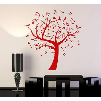 Vinyl Wall Decal Music Tree Notes Musical Art Interior Ideas Stickers Unique Gift (ig4775)