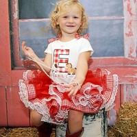 farm theme tutu, birthday tutu, country tutu, barn yard tutu