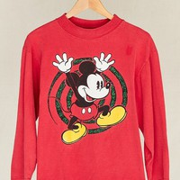 Vintage Red Mickey Mouse Long-Sleeved Tee - Urban Outfitters