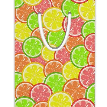 Colorful Citrus Fruits Aluminum Paper Clip Bookmark All Over Print