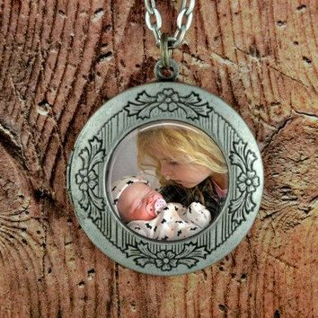 Personalized Photo Locket - Photo Locket Necklace Custom Photo Gift