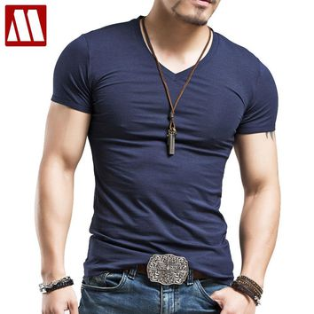Men's Tops Tees 2017 Summer New Cotton Trends Fitness Tshirt