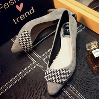 Summer Leather Square Toe With Heel Shoes [4920468548]