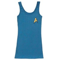 Star Trek Star Fleet Blue Science Uniform Tunic Tank Dress