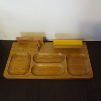 Vintage Men's Dresser Valet/Desk Organizer by London Leather - Mid Century Modern