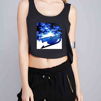 fairy tail logo ice for Crop Tank Girls S, M, L, XL, XXL *07*