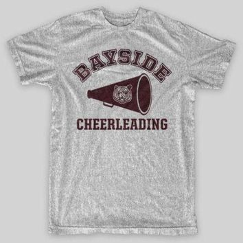 CREY6F BAYSIDE CHEERLEADING Tigers Saved By The Bell Zack Morris VINTAGE LOOK T-Shirt Loose Cotton T-Shirts For Men Cool Tops T Shirts