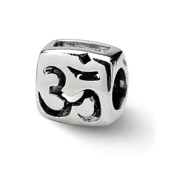 Sterling Silver OM Symbol Bead Charm