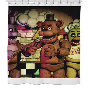 Five Nights At Freddy's Shower Curtain (Everyone)