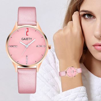 GAIETY G496 PU leather Minimalist Watch Watches Women Fashion Watch 2018 Relogio Feminino Ladies Watches Women Clock