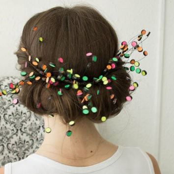 Colourful Bead Funny Lollipop Fireworks Comb Hair Accessory Photo Set Shoot Comb Ideas Handmade Hair Comb Bead Hair Comb Wedding Bridal Hair