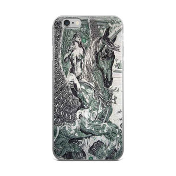 Money Art Dollar Bill Artistic Painting Currency Green & Grey iPhone 4 4s 5 5s 5C 6 6s 6 Plus 6s Plus 7 & 7 Plus Case