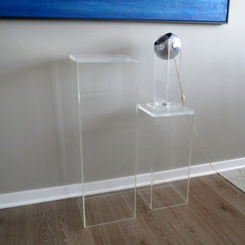 Vintage Lucite Display Stands Pedestals Modern