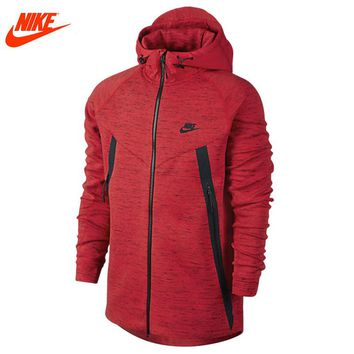 Nike spring men's sport Hoodie Jacket outdoor coat  red and blue 642959-696-452 clothes