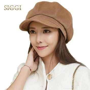 SIGGI Women Winter Hat Newsboy Cap Beret Painter Visor Casquette gavroche 69246