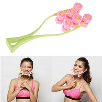 Flower Type Elastic Facial Massager Face-Lift Massage Roller Slimming Face GUB#