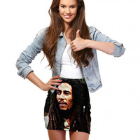 European Sell Well Exceed Personality 3 D Figure Oil Painting Picture Printing Package Arm Sexy Fashion Mini- Short Skirt