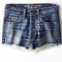 AEO Women's Vintage Hi-rise Shortie (Dark Wash)