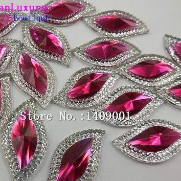 Art Supplies Shape Rose Red 15x30mm Crystal stones