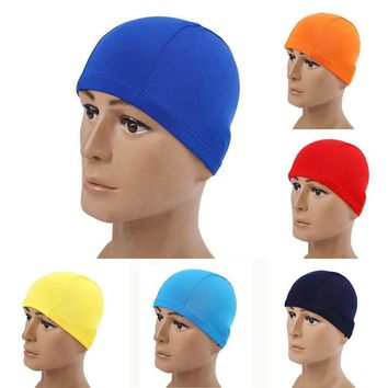 Adults Children Kids Elastic Fabric Ears Protection Sports Swim Pool Surfing Shower Hat Swimming Cap Free size for Men & Women