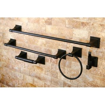 Oil Rubbed Bronze 5-Piece Bathroom Accessory Set - Free Shipping Today - Overstock.com - 14012136 - Mobile