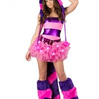 Cheshire Cat Tube Top Costume @ Amiclubwear costume Online Store,sexy costume,women's costume,christmas costumes,adult christmas costumes,santa claus costumes,fancy dress costumes,halloween costumes,halloween costume ideas,pirate costume,dance costume,co