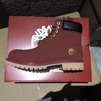 Timberland Rhubarb Boots 10061 2017 Yellow For Women Men Shoes Waterproof Martin Boots