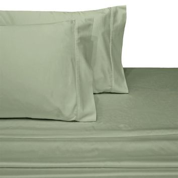 Twin XL SAGE 600 Thread count Solid 100% Combed cotton sheet sets