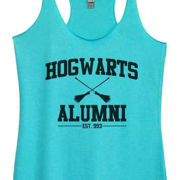 Womens Tri-Blend Tank Top - Hogwarts Alumini